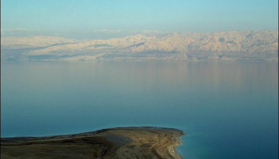 Flott utsikt over det vakre - men døde - havet.  Foto: David Shankbone