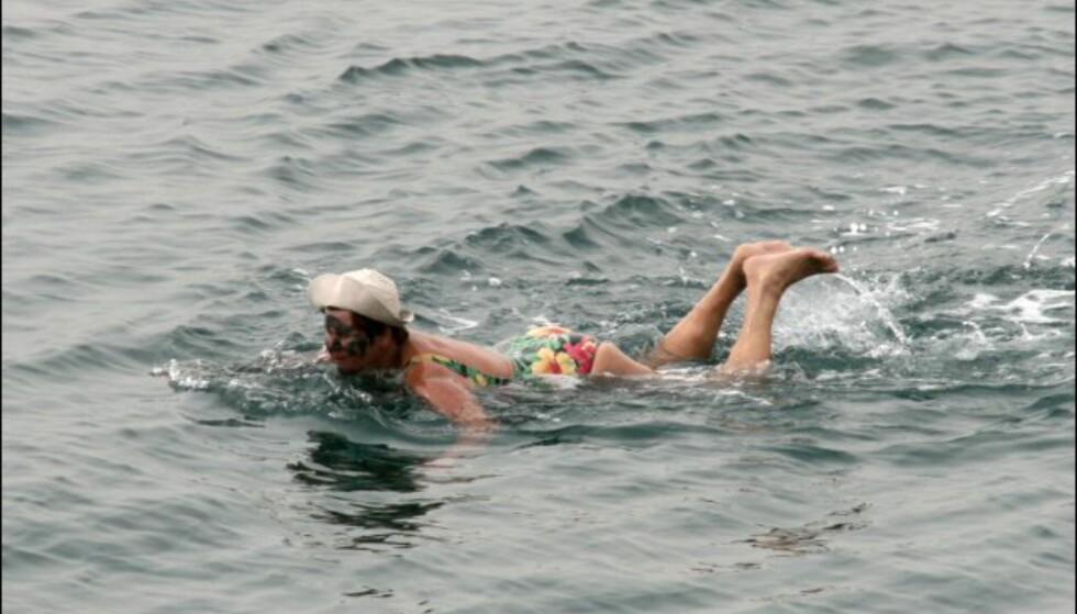 Vanlig brystsvømming fungerer dårlig. Du kommer liksom ikke av flekken... Foto: DinSide