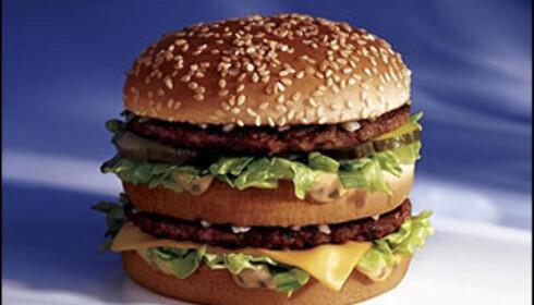 BigMac er også billigere i burgerens hjemland. Foto: McDonald's