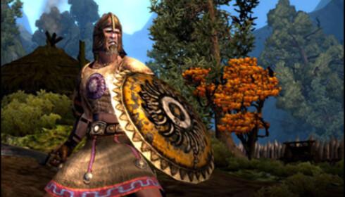 Skjermbilde fra Age of Conan - det kommende storspillet fra den norske spillprodusenten Funcom. Og skal vi tro Di.se er spill en bransje det kan være lurt å komme seg inn i. Foto: Funcom