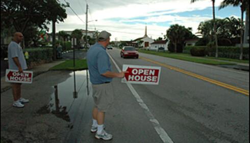 I Florida tyr folk til uortodokse salgsmetoder. Men i løpet av et par år vil trenden snu, tror meglerne.  Foto: Hans Kristian Krogh-Hansen