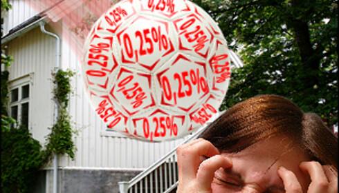 """Renten økte """"bare"""" med et kvart prosentpoeng, men er 3,75 prosentpoeng høyere enn for fire år siden"""