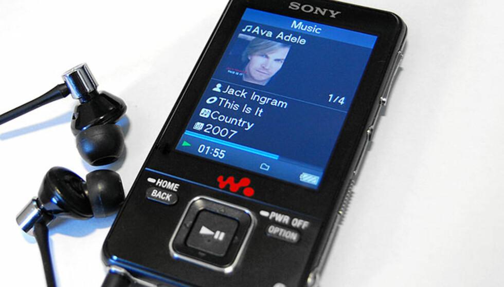 Sony NWZ-A826, som vi har testet, har 4 GB lagringsplass. Storebror NWZ-A828 har 8, mens NWZ-A829 byr på 16 GB.