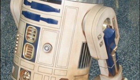 Her er en replika av R2D2 fra utstillingen. Foto: Wikipedia
