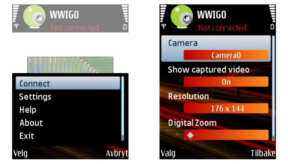 Mobilen som webkamera