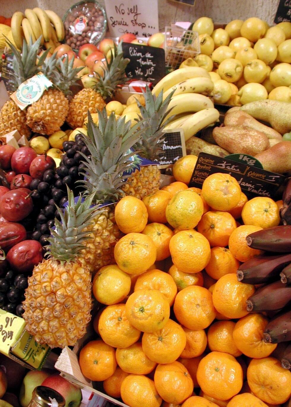 Ananas, bananer og sitrusfrukter skal holde cellulittene på avstand. Illustrasjonsfoto: Colourbox Foto: Illustrasjonsfoto: Colourbox
