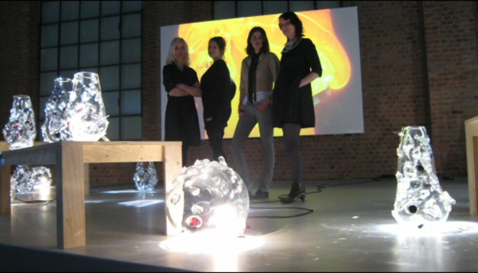 Organisk: Svenske Front Design har kreert en serie unike vaser og lamper som består av glass og krystaller.