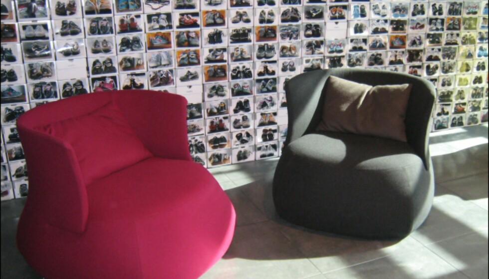 Fra loungedelen i italienske Elle Decors pop-up-kafé. Foto: Elisabeth Dalseg