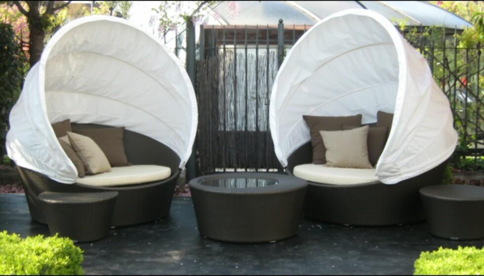 Luksuriøse utemøbler fra Dedon. Foto: Elisabeth Dalseg