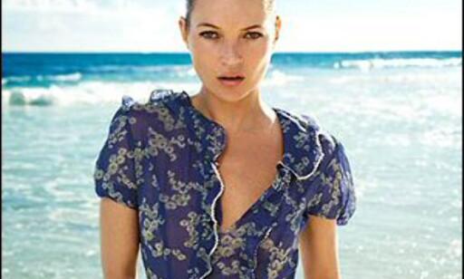Kate Moss dyrebare bagasje inneholdt klær hun hadde designet for Topshop. Her ser vi et eksempel. Foto: Topshop