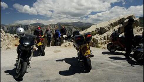 Området er perfekt også for motorsyklister på ferietur. Foto: www.photito.com