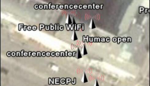WiGLE.net - her er nettverkene