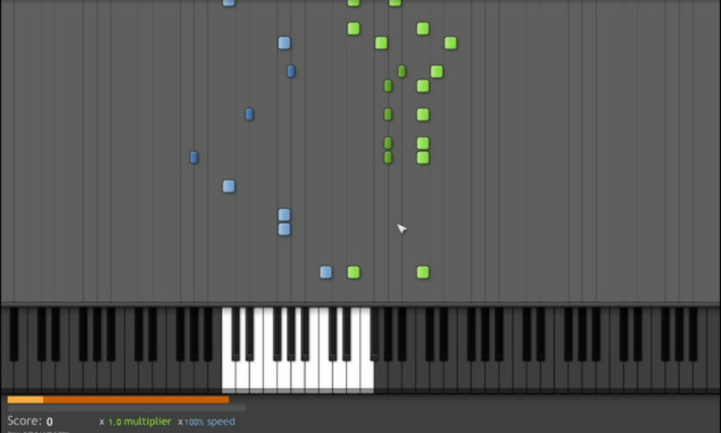 Synthesia kan minne litt om Guitar Hero eller Frets on Fire.