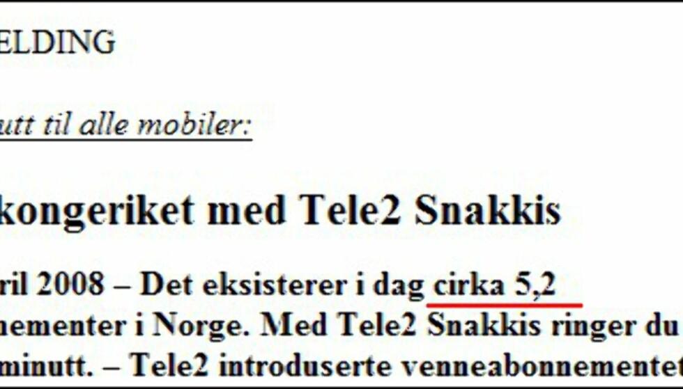 (Fra Tele2-pressemelding)