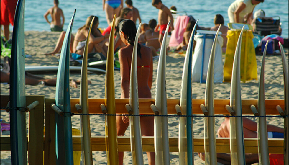 Strandbilder fra San Sebastian