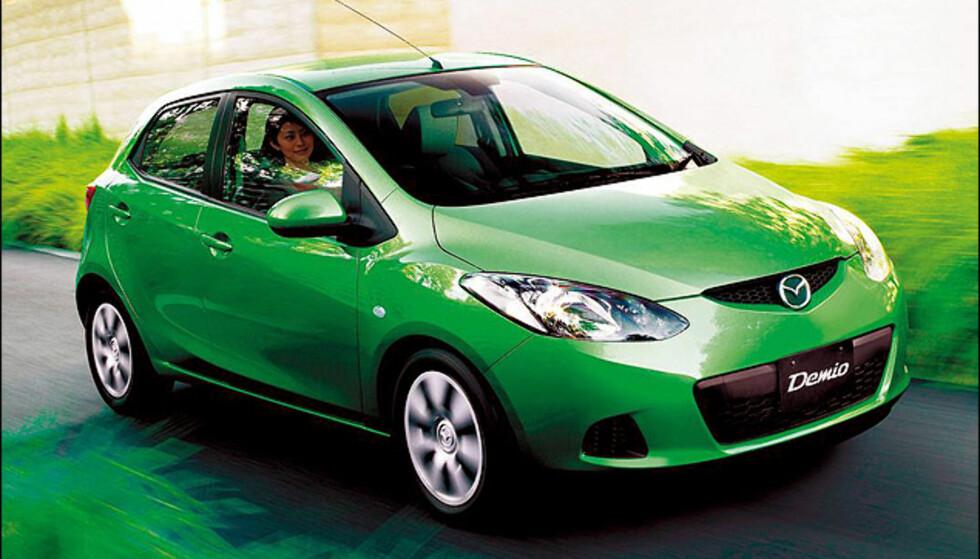 VINNEREN: Mazda 2 (755 poeng) (Poengsummene er avrundet til nærmeste hele tall)