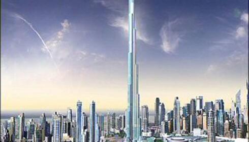 Burj Dubai bygges nå, men vil bli bare halvparten så høyt som skyskraperen til Al-Walid bin Talal.