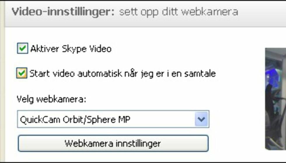 Overvåking med Skype