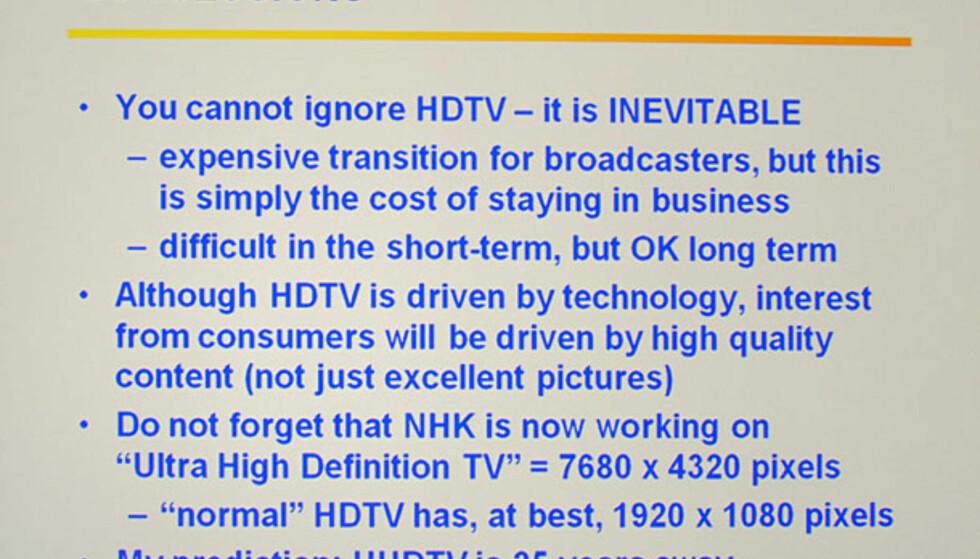 Norsk TV i HD? Ikke hold pusten