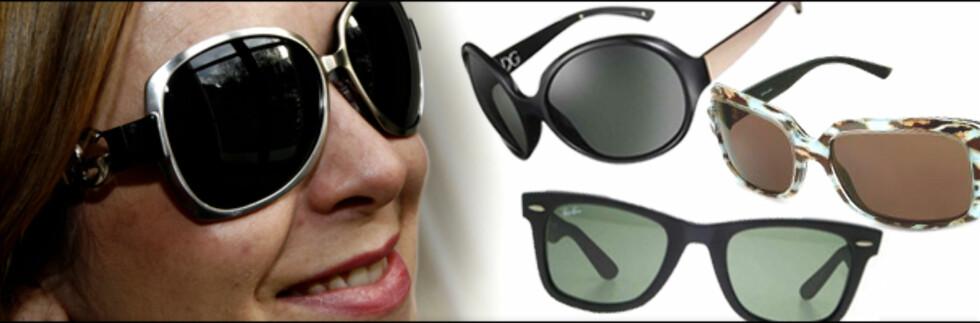 Begrenset budsjett? Designerbrillene er billigere på nett. Foto/montasje: Per Ervland, produsentene/Kim Jansson. Foto: Per Ervland/produsentene