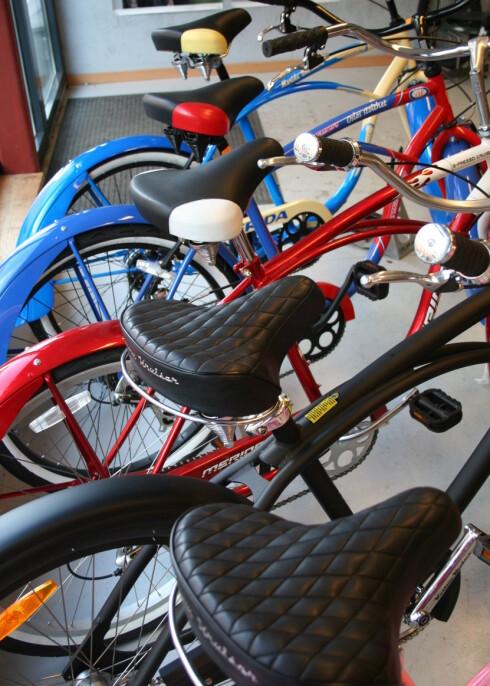 Såkalte City Bikes er behagelige, men kanskje ikke like praktiske. Foto: Elin Fugelsnes