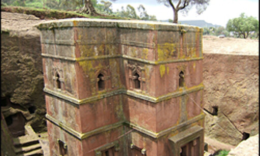 Kirke i Lalibela Foto: Wikipedia Commons
