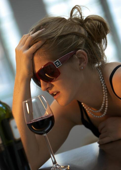 Hjernen krymper når vi drikker vin, mener forskerne bak en ny studie. Illustrasjonsfoto: colourbox.com Foto: Foto: colourbox.com