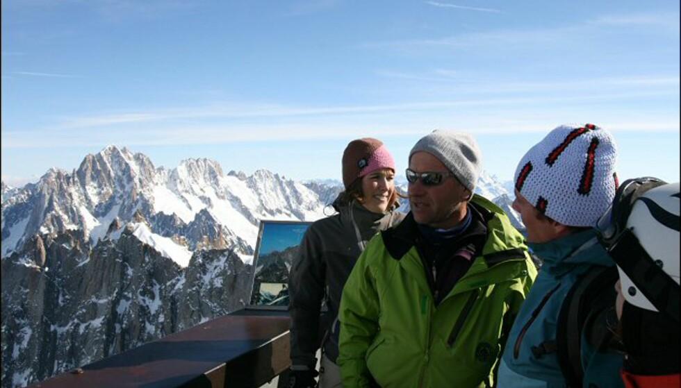 Fra utsiktspunktet Aguille de Midis, der du kan se mot Mont Blanc, og inn i Sveits og Italia. Foto: Eigil Knudsen Ingnes