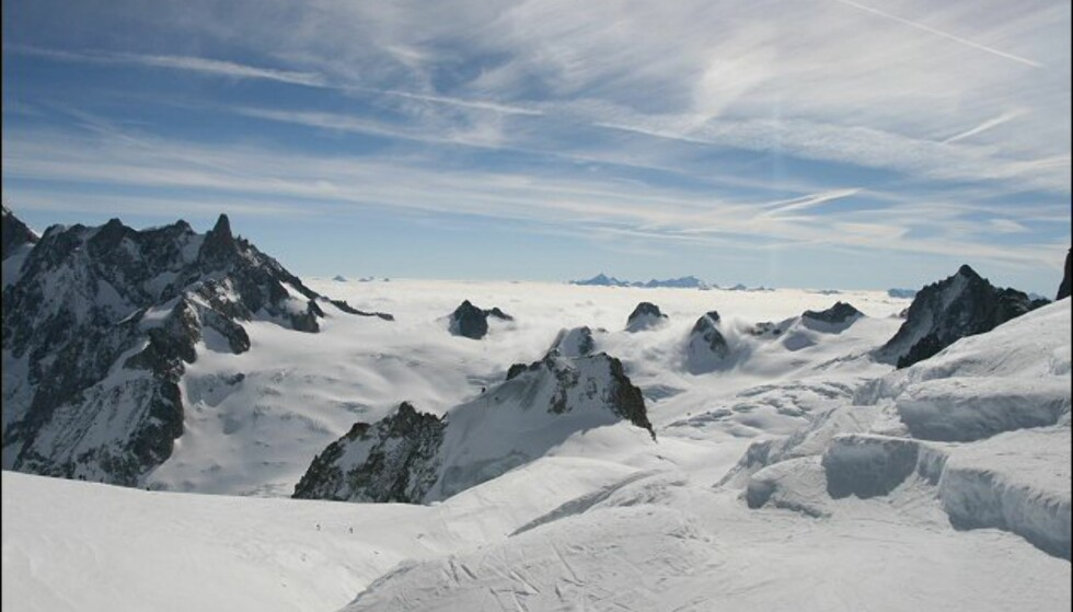 Flott utsikt over Alpenes tak. Foto: Eigil Knudsen Ingnes