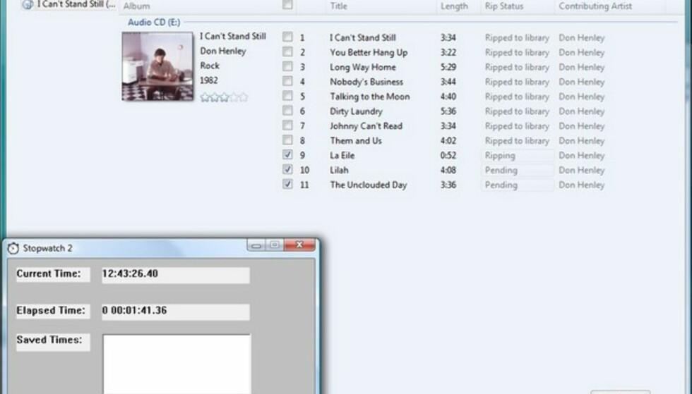 Ripping av musikk-CD