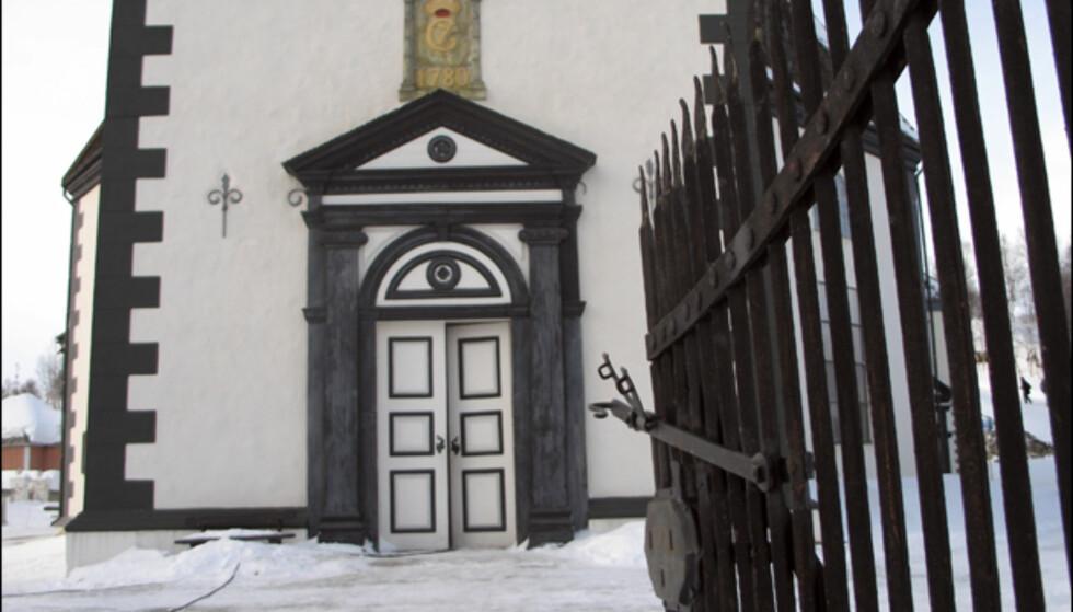 Kirken ble påbegynt i år 1780, og stod ferdig fire år senere.