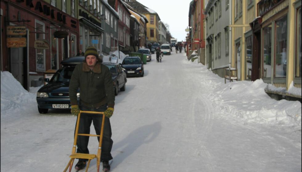 Sparkstøttingen er et populært fremkomstmiddel på Røros.
