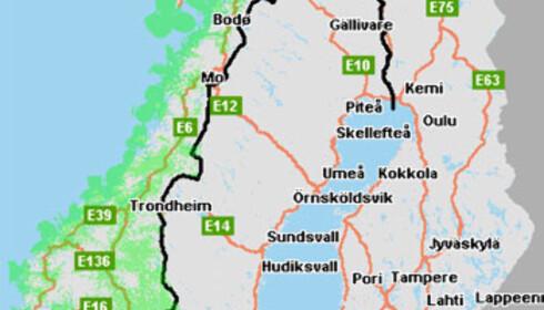 ICE dekker store deler av landområdet allerede. Det grønne på kartet over er områder ICE regner har god dekning ved bruk av deres USB-modem (11.3.2008)