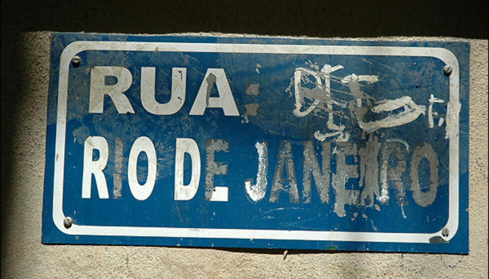 Skilt - et sjeldent syn i favelaen...Foto: Hans Kristian Krogh-Hanssen