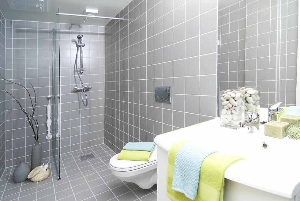 Slik valgte Kreativ Bolig AS å style leilighetens bad. Foto: Foto: Garanti Eiendomsmegling