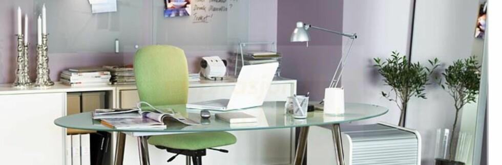 Slik foreslår Ikea at du kan innrede arbeidsplassen din. Foto: Ikea.no Foto: Foto: Ikea.no