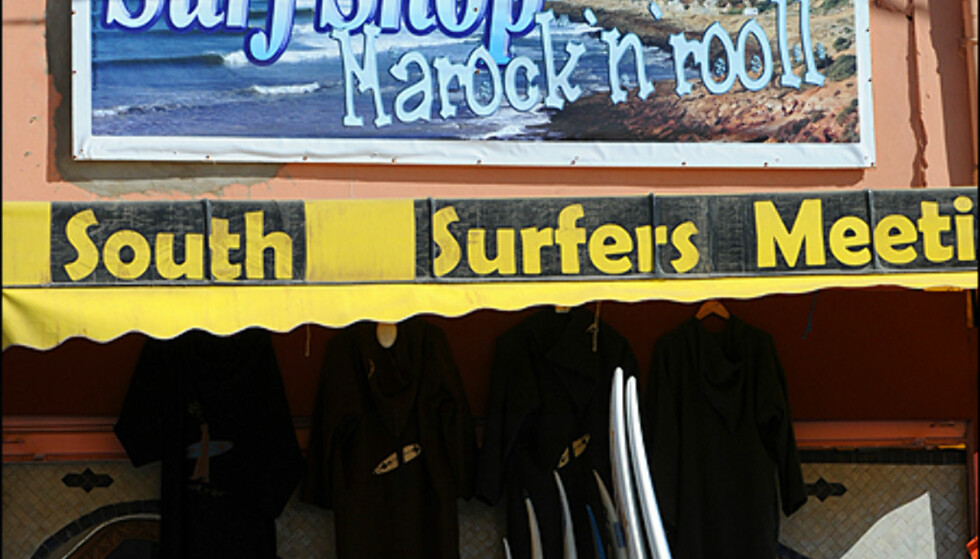 Surfshop i Taghazout.