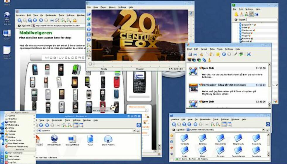 Slax Linux på minneplugg