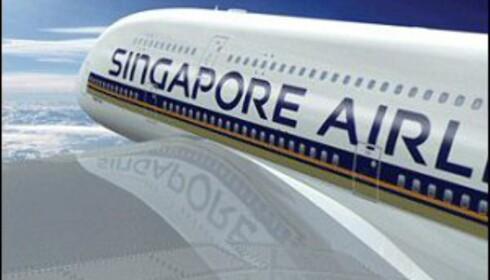 A380 er verdens største passasjerfly. Foto: Singapore Airlines