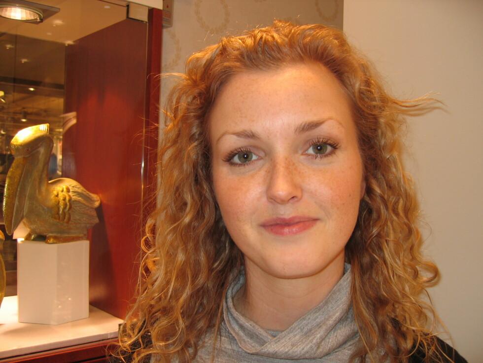 <b>Monica Årmo (26), gullsmed, Drammen</b><br /> - Nei. Jeg er ikke interessert i å tjene noe mindre enn det jeg gjør. Foto: Foto: Hanne Maria Breivik