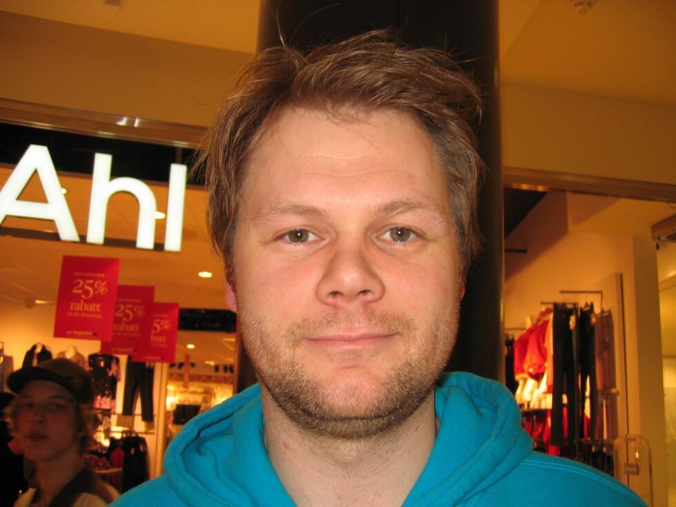 <b>Gjermund Bråten (29), sykepleier, Hønefoss</b><br /> - Nei. Jeg liker både å jobbe og å ha penger. Foto: Foto: Hanne Maria Breivik