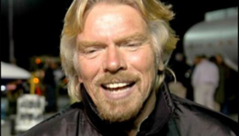 Richard Branson flyr på kokosnøttkrefter.