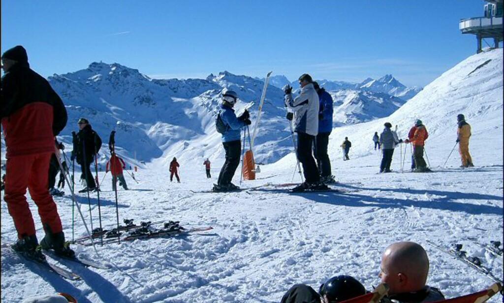 Januarsol på 3.000 meters høyde. Foto: Martin Hovden