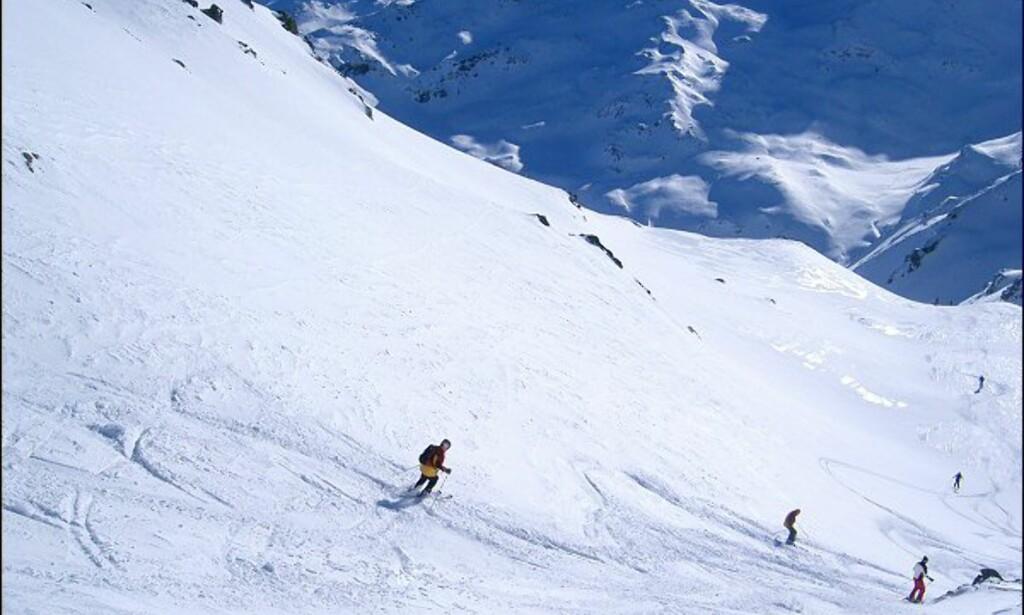 Nesten førstesporet fra La Masse (2.804 moh.). Foto: Martin Hovden