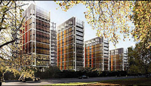 Boligprosjektet ved Hyde Park, slik det skal fremstå om ett par år. Foto: APS Project Management