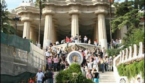 Gaudis verdenskjente Parc Güell er en av Barcelonas viktigste attraksjoner. Foto: Colourbox