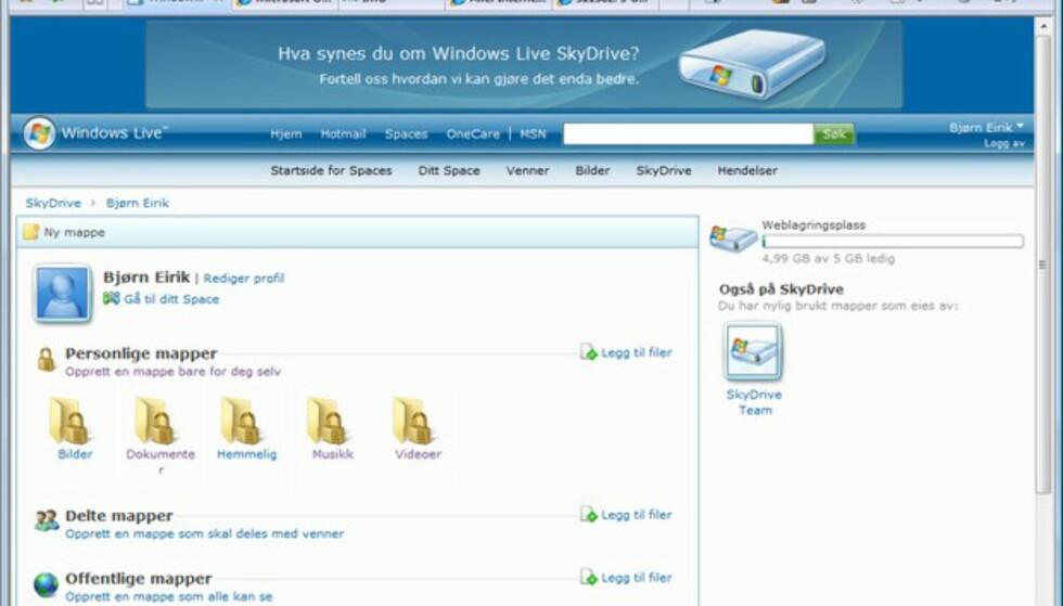 5 GB gratis online-lagring