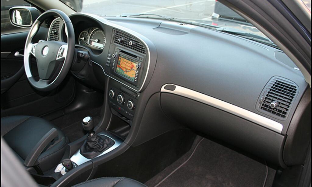 Interiøret i Saab 9-3 Aero 2.8 V6 XWD