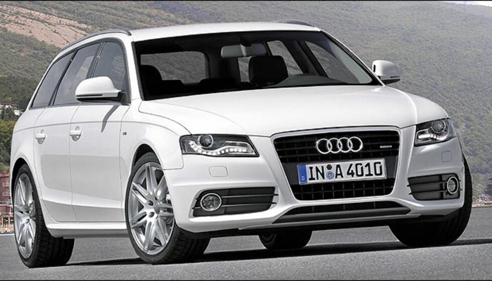 Audi A4 Avant. Denne bilen er rett rundt hjørnet og kommer til Norge snart. Bildet er manipulert.