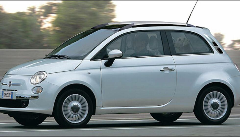 Fiat 500 Giardiniera betyr Fiat 500 stasjonsvogn. Bildet er manipulert.